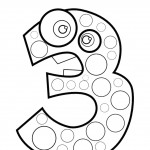 דף צביעה מספר 3 בעיטור עיגולים
