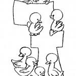 דף צביעה מספר 7 בעיטור אפרוחים