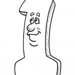דף צביעה מספר 1 עם פרצוף