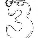 דף צביעה מספר 3 עם פרצוף