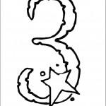 דף צביעה מספר 3 בעיטור כוכב