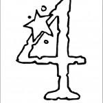 דף צביעה מספר 4 בעיטור כוכב