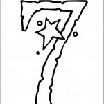 דף צביעה מספר 7 בעיטור כוכב