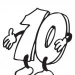 דף צביעה מספר 10 עם יד מושטת לשלום