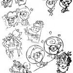 דף צביעה קסם של הורים 1
