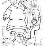 דף צביעה מלכת השלג 15