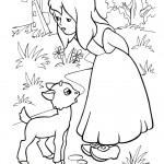 דף צביעה מלכת השלג 7