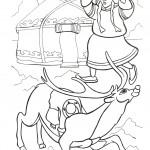 דף צביעה מלכת השלג 3
