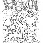 דף צביעה מלכת השלג 17