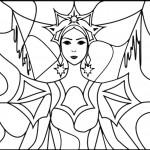 דף צביעה מלכת השלג 16