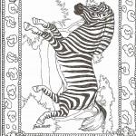 דף צביעה זברה מרהיבה ביופיה