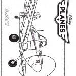 דף צביעה המטוס דאסטי