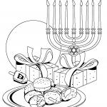 דף צביעה סמלי חג החנוכה