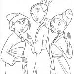 דף צביעה שלושת האחיות סו, טינג-טינג ומיי