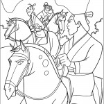 דף צביעה שאנג יו ושניים מהלוחמים בצבאו