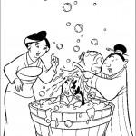 דף צביעה השדכנית והסבתא רוחצות את מילאן