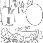 דף צביעה פיניאס ופרב עובדים על המצאת החללית