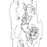 דף צביעה בילבי נחה בגינת פרחים