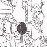 דף צביעה בילבי, טומי ואניקה סביב לשולחן