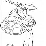 דף צביעה אליוט אוחז בצלחת האוכל של בו