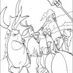דף צביעה חיות היער חוגגות