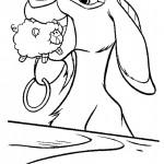 דף צביעה התיש אוחז בבובת כבשה