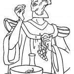 דף צביעה הכומר פרולו נהנה מאכילת ענבים