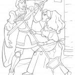 דף צביעה אסמרלדה נלחמת בפאביוס