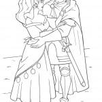 דף צביעה אסמרלדה ופאביוס