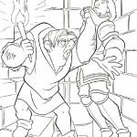 דף צביעה קואזימודו כועס על פאביוס
