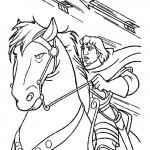 דף צביעה פאביוס רוכב על סוסו אכילס