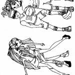 דף צביעה דוס והולט מחזרים אחר הבנות
