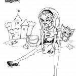 דף צביעה הינשוף חיית המחמד של צ'וליה