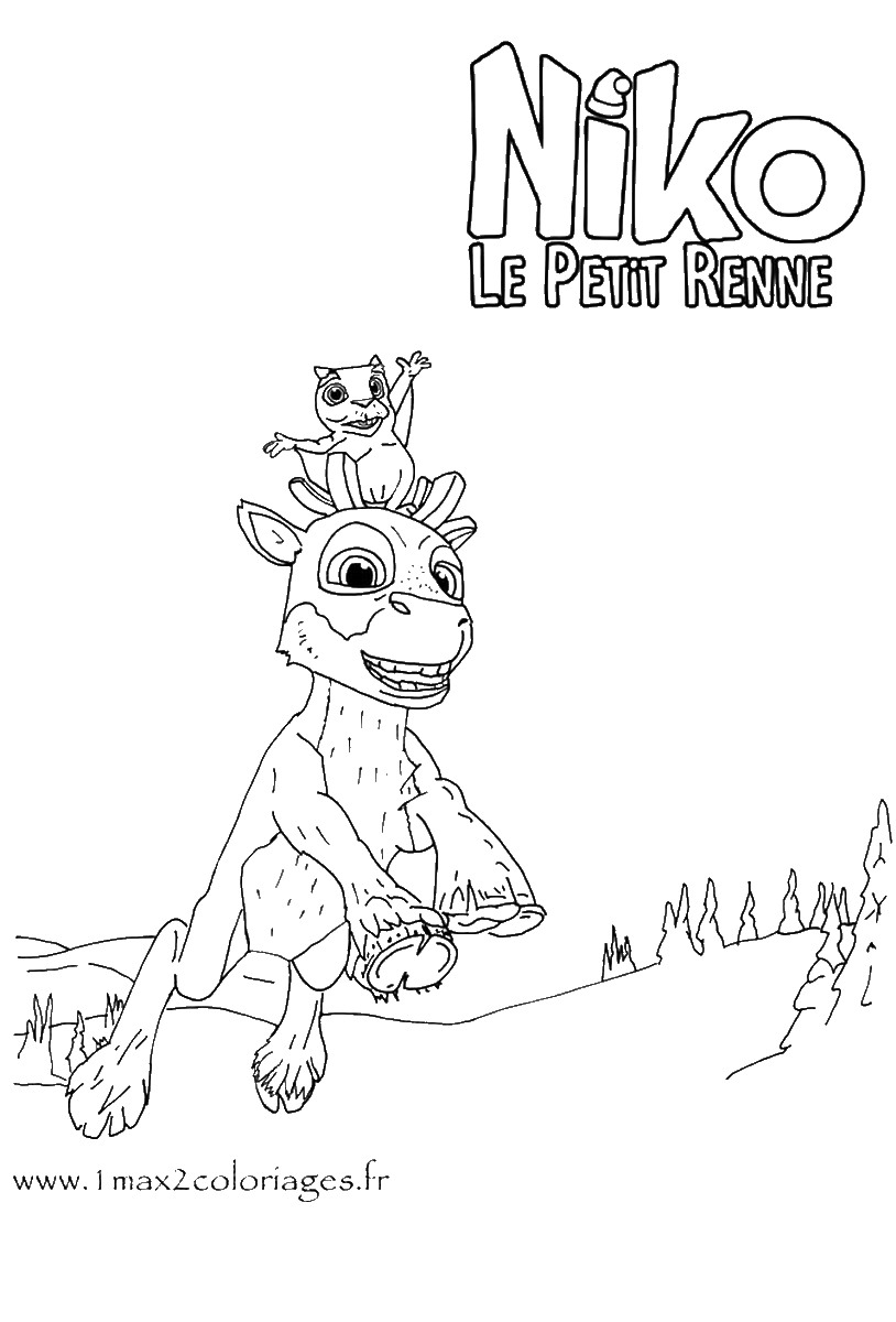 Niko coloring pages coloring pages - Coloriage petit renne ...