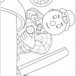 דף צביעה אדון ספארקס מתקן מכונית