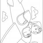 דף צביעה נאדי טס במטוס