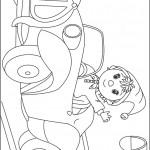 דף צביעה נאדי מנופף לשלום ממכוניתו