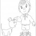 דף צביעה נאדי והכלב במפי