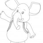 דף צביעה ג'מבו הפיל