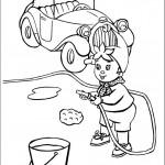 דף צביעה נאדי שוטף את מכוניתו