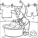 דף צביעה נאדי מכבס ותולה כביסה