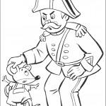 דף צביעה השוטר פלוד תופס באוזנו של עכברון