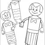דף צביעה הבובונים - משפחת כדורת