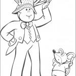 דף צביעה ברטי הקוף ועכברון