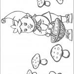 דף צביעה נאדי אוסף פטריות