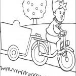 דף צביעה נאדי רוכב על אופניו