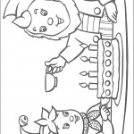 דף צביעה נאדי ואוזניון חוגגים יום הולדת