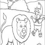 דף צביעה נאדי פוגש באריה חביב