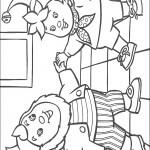 דף צביעה נאדי ואוזניון בריקוד משותף