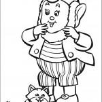 דף צביעה אוזניון והחתולה הוורודה